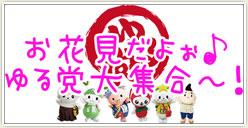 「お花見だよぉ♪ゆる党大集合~!」開催!