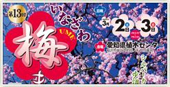 「第13回 いなざわ梅まつり」開催!